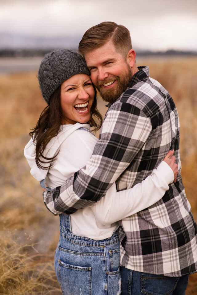 Fun engagement session in Big Bear Lake California with couple by Simply Perfect Images