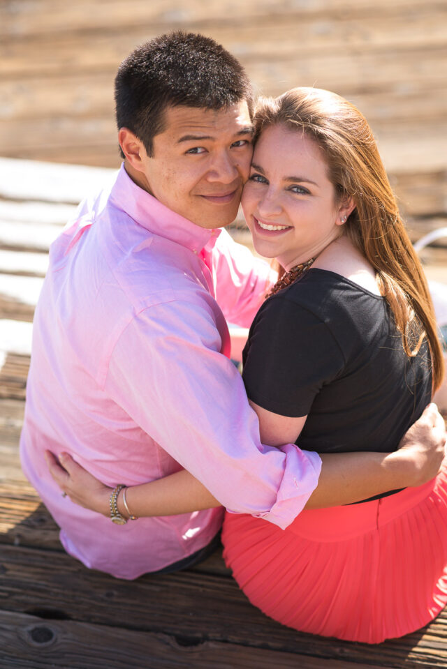 Engagement Session at Santa Monica Pier Summertime by Simply Perfect Images