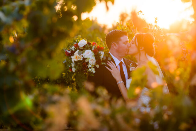 Wedding at Ponte Winery & Vineyards, Temecula with bride & groom by Simply Perfect Images